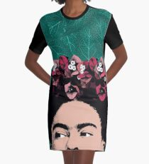 Frida Kahlo Portrait Graphic T-Shirt Dress