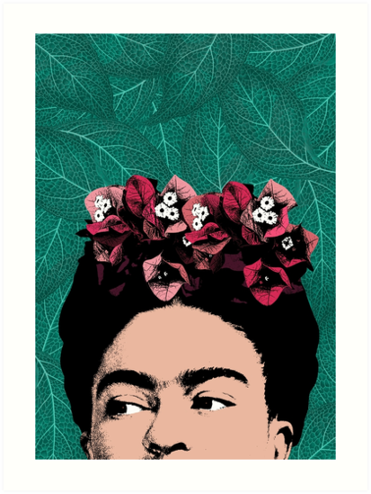 Frida Kahlo Portrait by PrintsProject