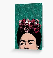 Famous people greeting cards redbubble frida kahlo portrait greeting card m4hsunfo Images