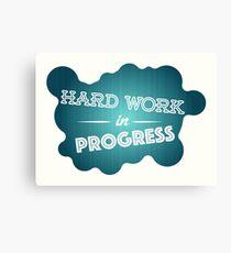 Hard work graphic Canvas Print