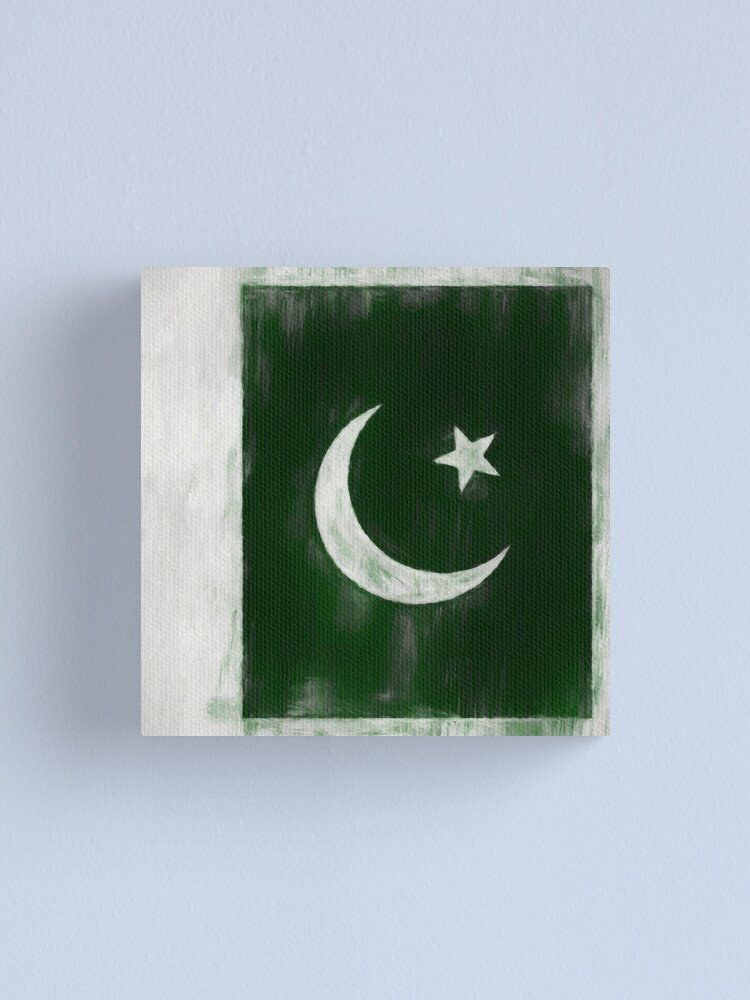 Alternate view of Pakistani Flag No. 2, Series 2 Canvas Print