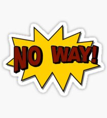 No Way! Comic Style Text Sticker