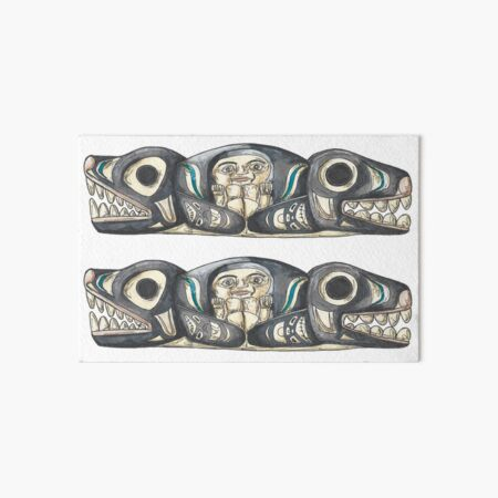 Buckle as Orca Killer Whale Indian Tribals Totem Belt Buckle