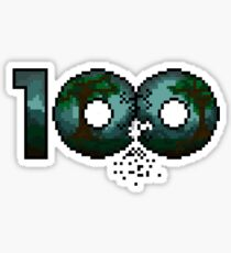 The 100 Pixelized Sticker
