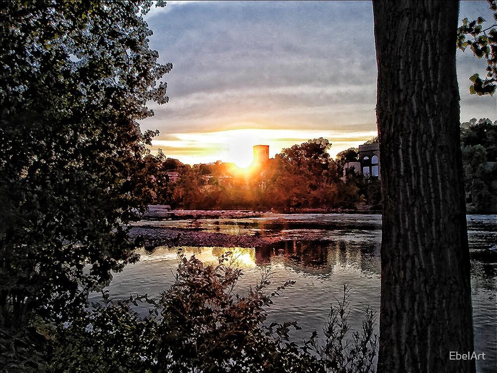 Sunset On The Fox III by EbelArt