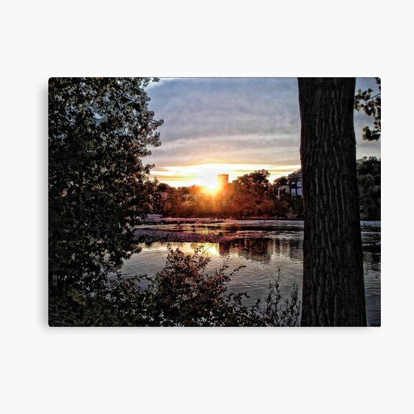 Sunset On The Fox III Canvas Print