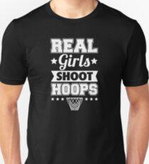Real Girls Shoot Hoops (white) Unisex T-Shirt