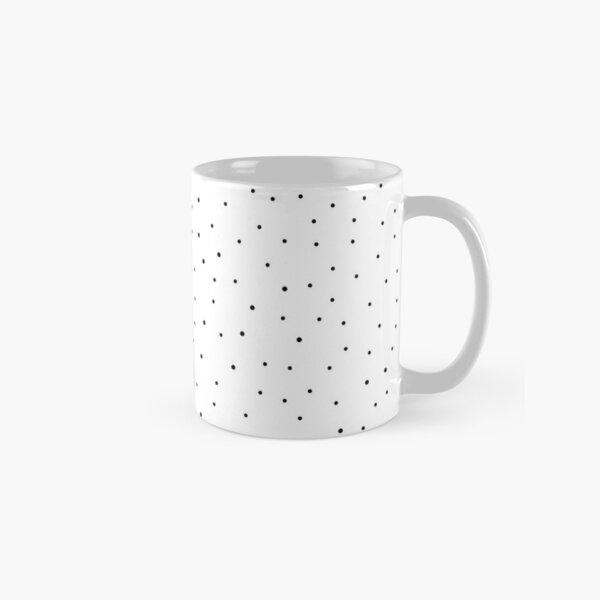 Random Dots on White Classic Mug