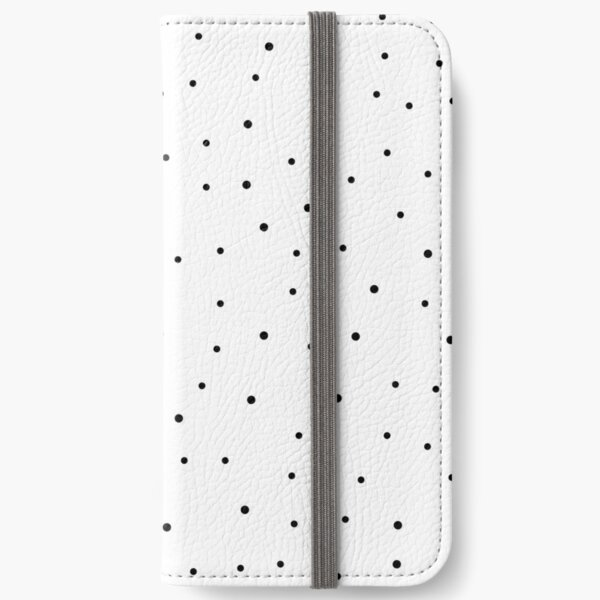Random Dots on White iPhone Wallet