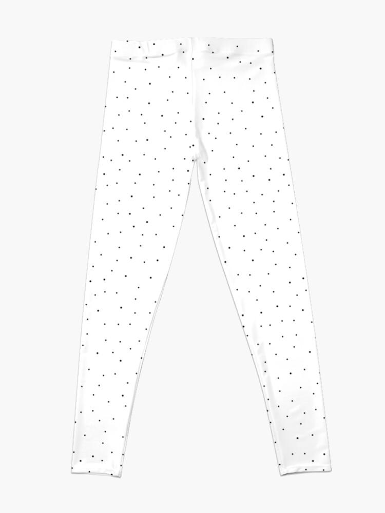 Alternate view of Random Dots on White Leggings