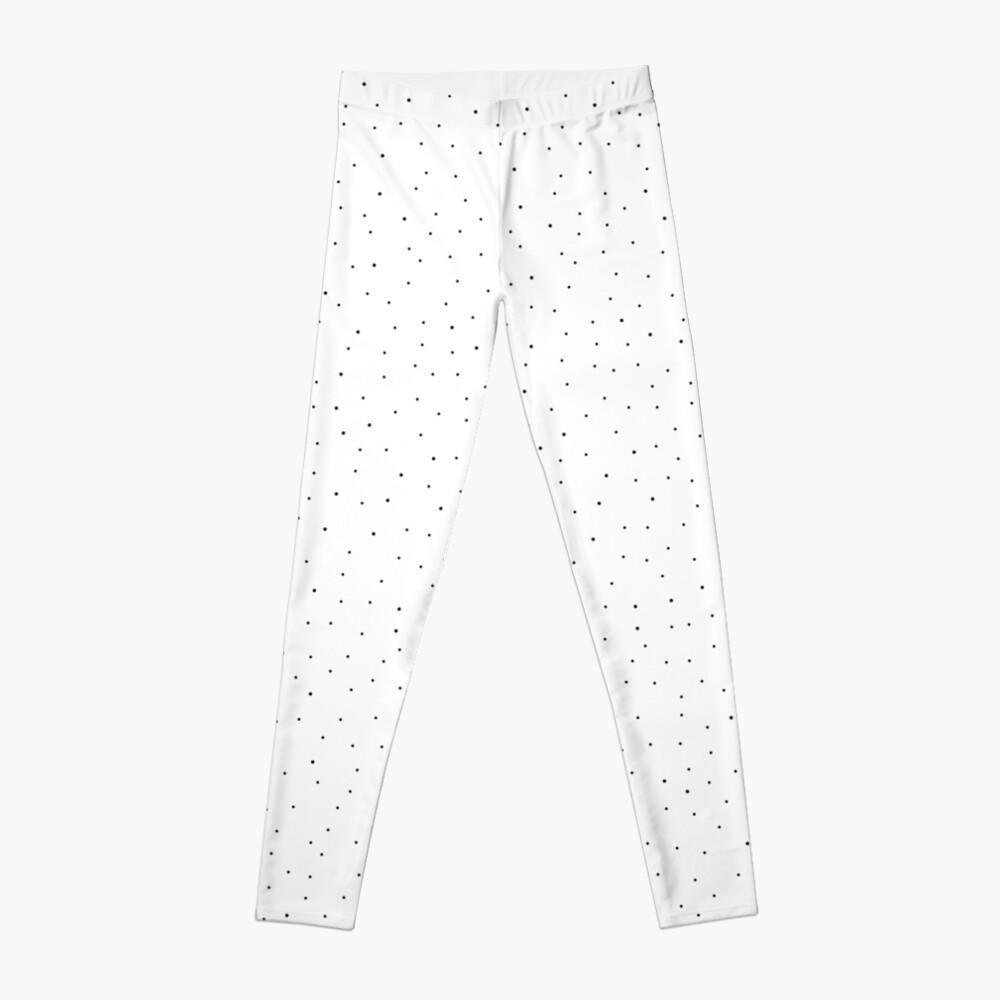 Random Dots on White Leggings