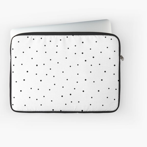 Random Dots on White Laptop Sleeve