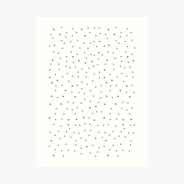 Random Dots on White Art Print