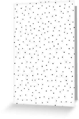 Random Dots on White by MissTiina
