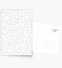Random Dots on White Postcards