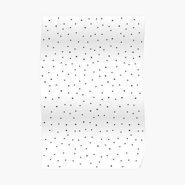 Random Dots on White Poster