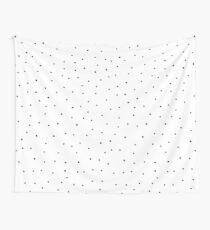 Random Dots on White Wall Tapestry