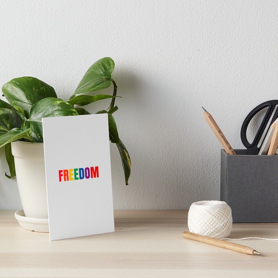 FREEDOM - RAINBOW Art Board Print