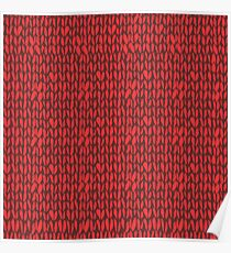 Red knit sweater  Poster