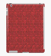Red knit sweater  iPad Case/Skin