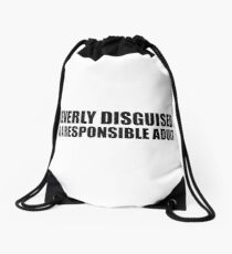 Clever Disguise Drawstring Bag