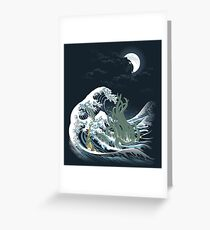 The Wave Off  R'lyeh  Greeting Card