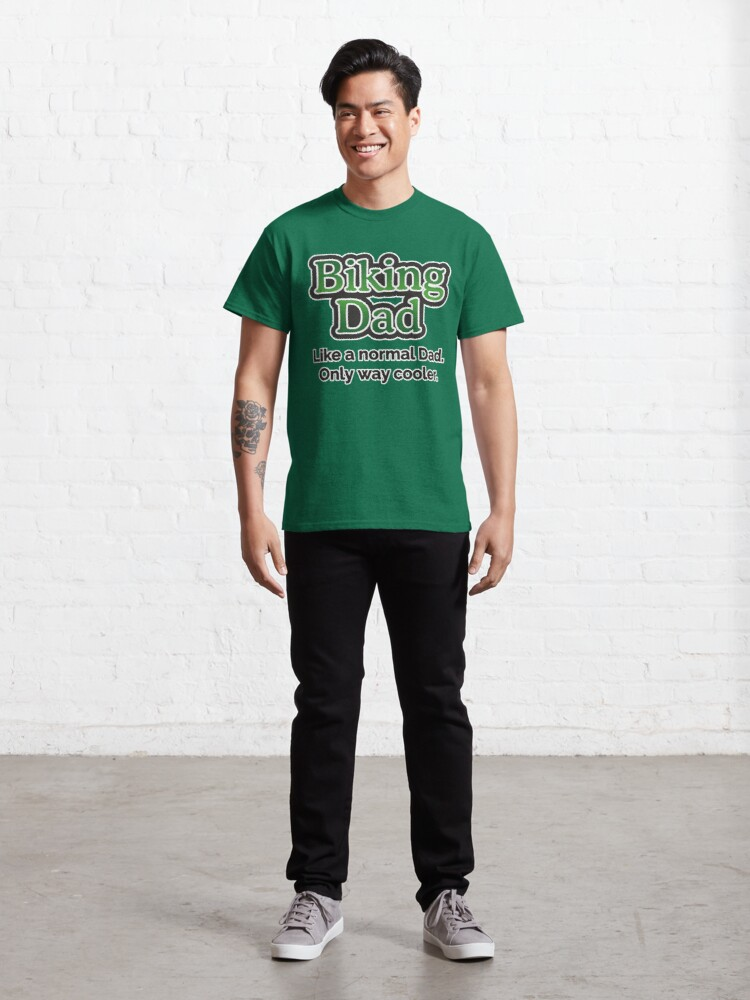 Alternate view of Biking Dad Classic T-Shirt