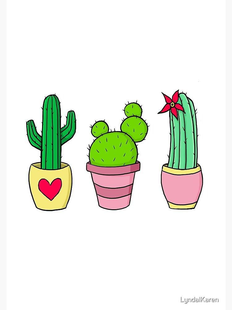 Cute Cacti by LyndalKaren