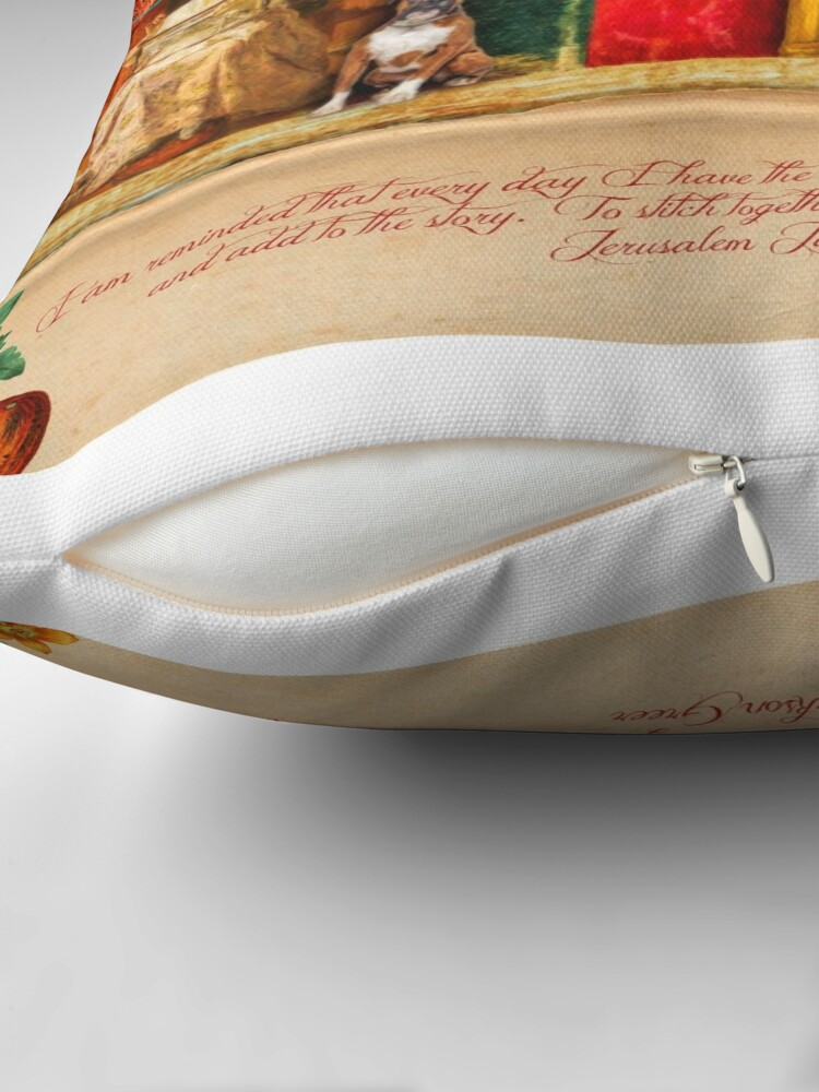 Alternate view of A Stitch In Time October Throw Pillow