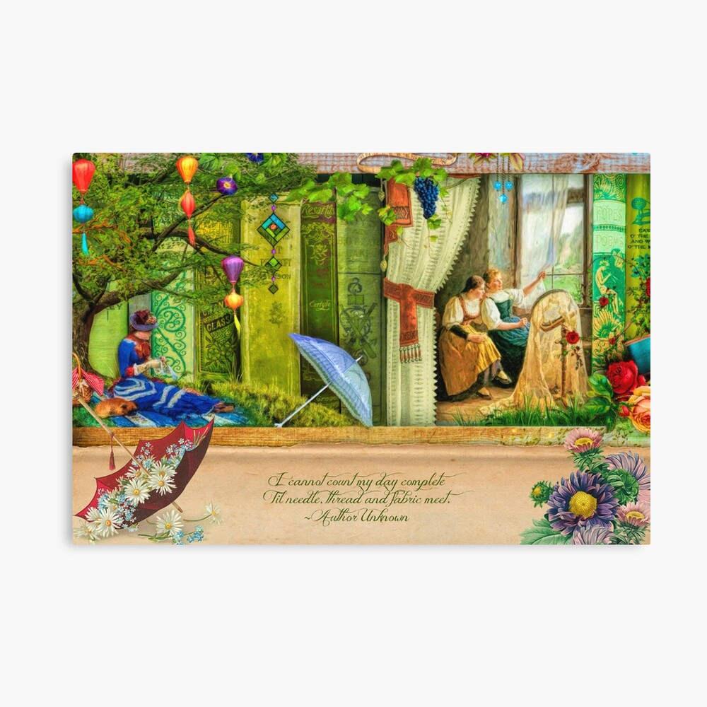 A Stitch In Time May Canvas Print