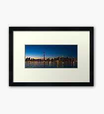 Toronto Skyline at dusk Framed Print