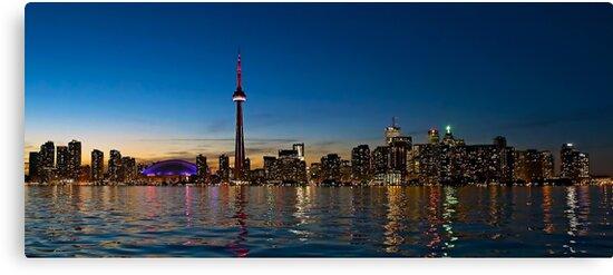 Toronto Skyline at dusk by Henry Jager