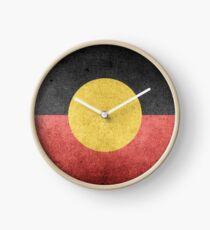 Australian Aboriginal Flag Clock