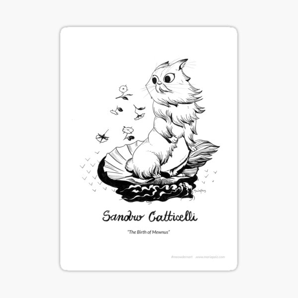 #meowdernart - Sandro Catticelli Sticker