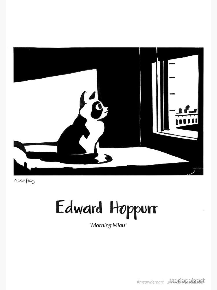 #meowdernart - Edward Hoppurr by mariapaizart