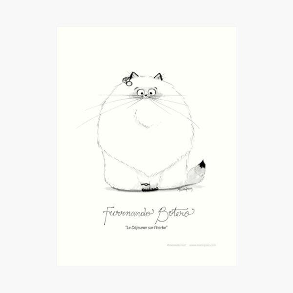 #meowdernart - Furrnando Botero Art Print