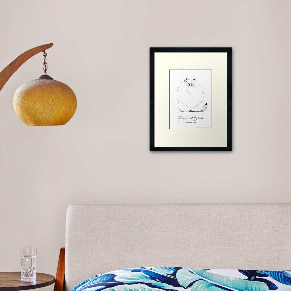 #meowdernart - Furrnando Botero Framed Art Print