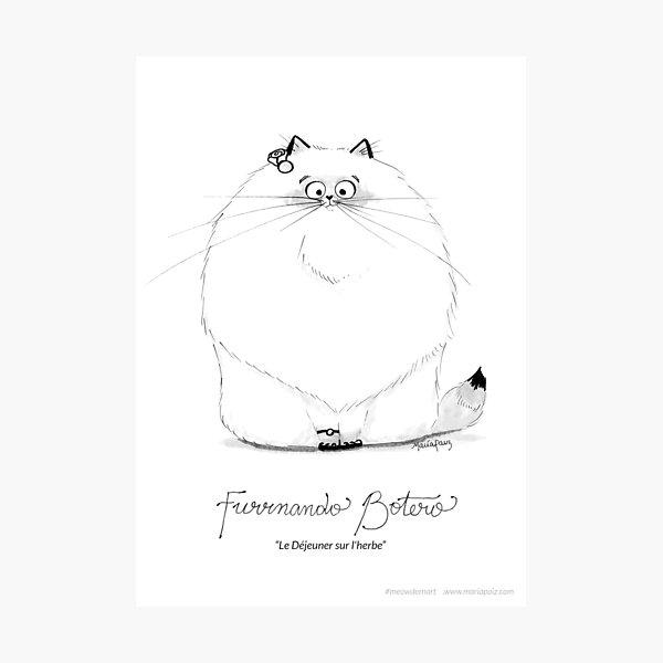 #meowdernart - Furrnando Botero Photographic Print