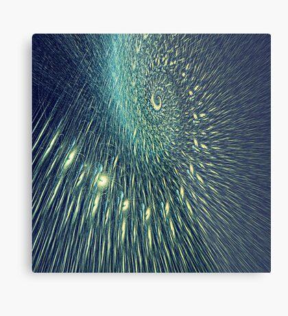 Fractal rain Metal Print