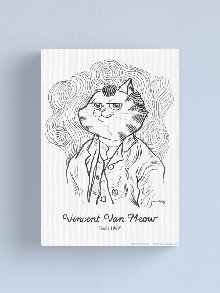 Alternate view of #meowdernart - Vincent Van Meow Canvas Print