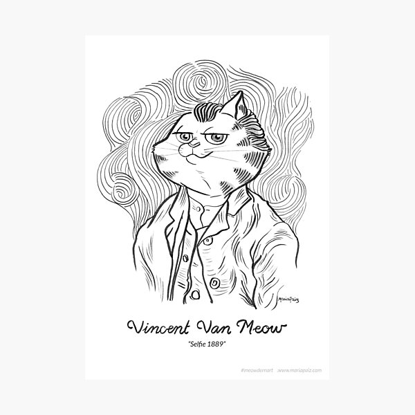 #meowdernart - Vincent Van Meow Photographic Print
