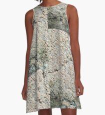 cement A-Line Dress