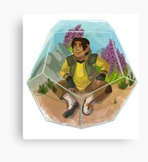Paladin Terrarium - Yellow Canvas Print