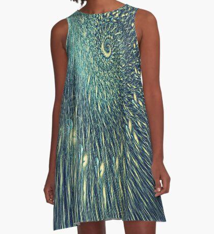Fractal rain A-Line Dress