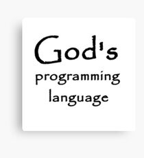 god's programming language Canvas Print