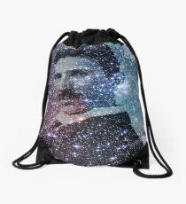 "Nikola Tesla ""Star Mind"" Galaxy Drawstring Bag"