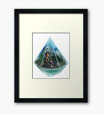 Paladin Terrarium - Blue Framed Print