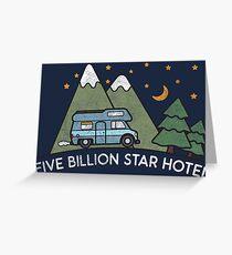 Campervan: 5 Billion Star Hotel Camping Gift Grußkarte