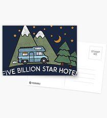 Campervan: 5 Billion Star Hotel Camping Gift Postkarten