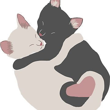 Peace and Harmony Cats - Curled Up Sleeping Kittens by awkwarddesignco